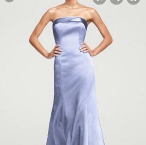Mermaid formal gown. Papaya color. W/ shawl.